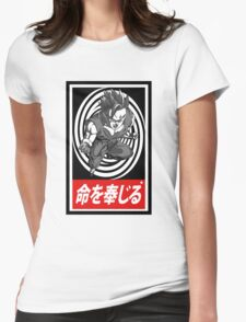 Super Saiyan vortex Aesthetics Womens Fitted T-Shirt