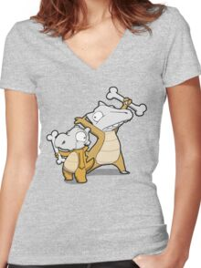 Number 104 and 105 Women's Fitted V-Neck T-Shirt