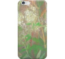 """""""White flowers"""", summer plants, pastel painting, life sketch iPhone Case/Skin"""