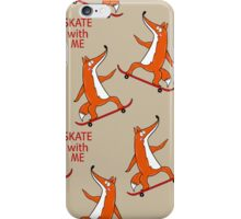 Skateboard characters stylish fox.  iPhone Case/Skin