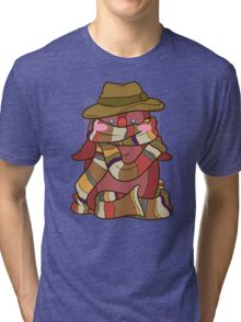 Fourth Doctor Penguin - Doctor Who Tri-blend T-Shirt