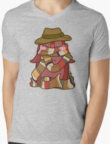 Fourth Doctor Penguin - Doctor Who Mens V-Neck T-Shirt