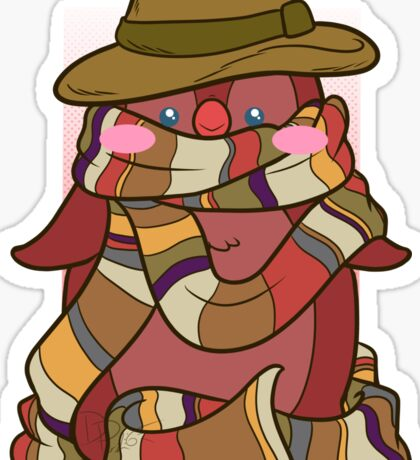 Fourth Doctor Penguin - Doctor Who Sticker