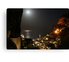 Amalfi Village by Night Canvas Print