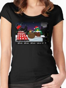 Ho ho ho-bey! Women's Fitted Scoop T-Shirt