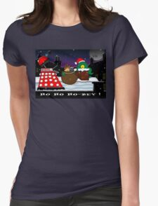 Ho ho ho-bey! Womens Fitted T-Shirt