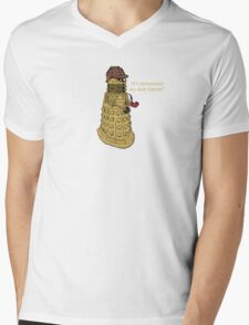 Sherlock Dalek  Mens V-Neck T-Shirt