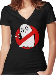 Ghostblookers Women's Fitted V-Neck T-Shirt