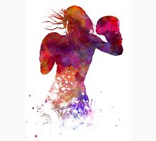 woman boxer boxing kickboxing silhouette isolated 02 Unisex T-Shirt