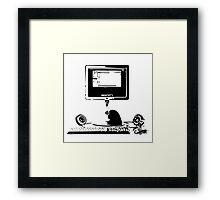 iMac G4 Black Sketch Framed Print