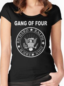 Gang of Four • Ramones Style Design for Programmers Women's Fitted Scoop T-Shirt
