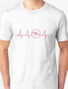 Pokemon Pokeball Heartbeat T-shirt T-Shirt