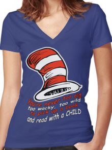 You're never too old Women's Fitted V-Neck T-Shirt
