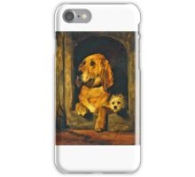 Sir Edwin Henry Landseer - Dignity and Impudence iPhone Case/Skin
