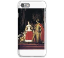 Sir Edwin Henry Landseer - Queen Victoria and Prince Albert at the Bal Costumé  iPhone Case/Skin