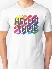 HELLO THERE retro colors geometric T-Shirt