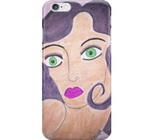 Classic Green Eyed Beauty iPhone Case/Skin
