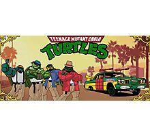 Teenage Mutant Cholo Turtles Photographic Print