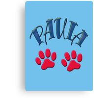 Paula paws - dogs, cats, animal welfare, animal rescuers, animal rights Canvas Print