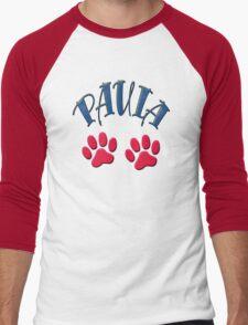 Paula paws - dogs, cats, animal welfare, animal rescuers, animal rights Men's Baseball ¾ T-Shirt