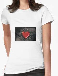 decorative heart  Womens Fitted T-Shirt