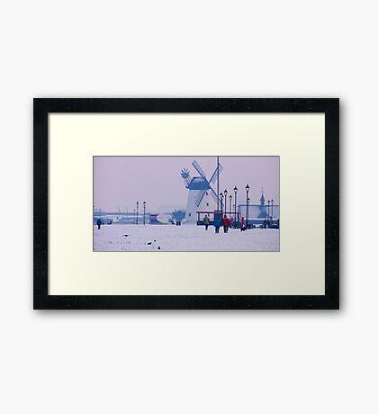 Lytham Windmill In Winter Framed Print