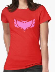 PJ Masks - Owlette Crest Womens Fitted T-Shirt