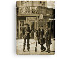 Old West Street Scene Canvas Print