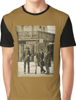 Old West Street Scene Graphic T-Shirt
