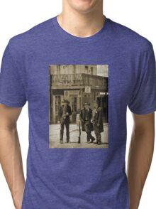 Old West Street Scene Tri-blend T-Shirt