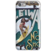 North Shore Traffic Sign WOMAN iPhone Case/Skin