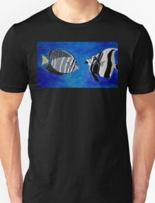 Ocean Fishes Acrylic Painting Unisex T-Shirt