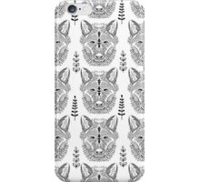 Zen art wolf head print iPhone Case/Skin