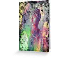 Artemis - goddess, mythology, bust, kynthia, Greeting Card