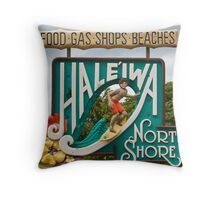 North Shore Traffic Sign MAN Throw Pillow