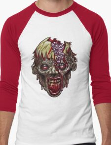 SCREAMING ZOMBIE Men's Baseball ¾ T-Shirt
