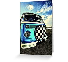 Chequered Blue Greeting Card