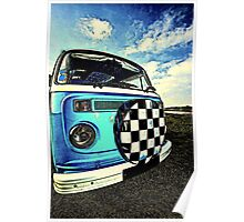 Chequered Blue Poster