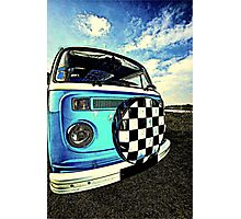 Chequered Blue Photographic Print