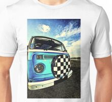 Chequered Blue Unisex T-Shirt