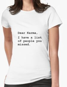 Dear Karma Womens Fitted T-Shirt