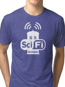 Sci-Fi ZONE White Tri-blend T-Shirt