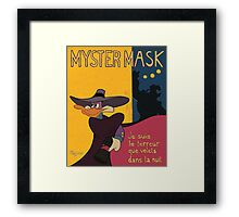 Myster Mask (Darkwing Duck) Framed Print