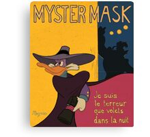 Myster Mask (Darkwing Duck) Canvas Print