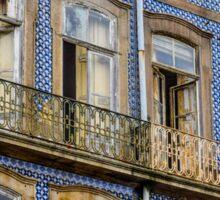 The colours of the Portuguese architecture in Porto Sticker