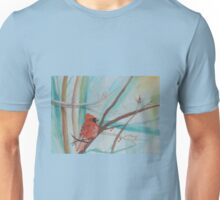 Winter Cardinal (Watercolor Painting) Unisex T-Shirt