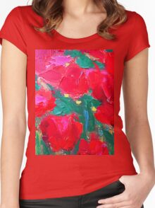 Roses For You by Susi Franco Women's Fitted Scoop T-Shirt