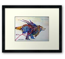 Feathery Wolf Framed Print
