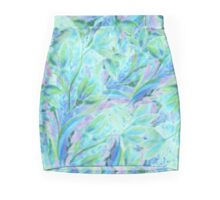 Cold abstract floral elements Mini Skirt