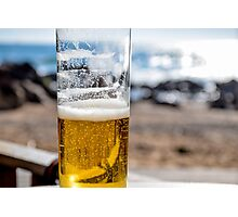 Beer on the beach, Porto Photographic Print